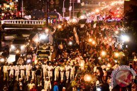 Ribuan warga Pontianak pawai akbar tahun baru Islam