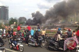 Kebakaran lahap enam rumah di Kampung Bali