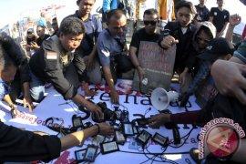 Aksi Solidaritas Wartawan Banyumas