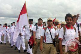 Peserta Kirab Pemuda Nusantara tiba di Mamuju