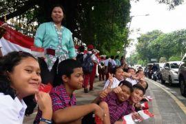 7.200 pelajar Bogor sambut Emir Qatar