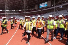 """Stadion GBK makin """"bersinar"""" jelang Asian Games"""