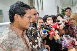 Asian Games jadi tema pembicaraan Anies-Sandiaga dan Jokowi
