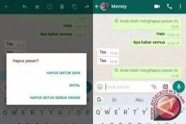 WhatsApp Kini Bisa Menghapus Pesan