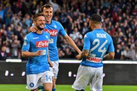 Napoli bekuk Sassuolo 3-1 ketika Dries Mertens capai 60 gol di Italia