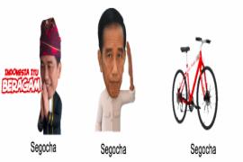 LINE kenalkan stiker pilihan Presiden Joko Widodo
