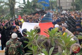 Pemakaman Brimob Korban Penembakan,