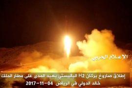 Peluru kendali balistik ditembakkan ke Arab Saudi setelah pidato pimpinan Houthi