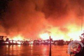 Puluhan Rumah Hangus Terbakar di Tanjungjabung Timur