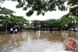 Sejumlah daerah di Makassar tergenang banjir