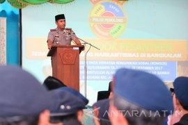 Kapolres Bangkalan Ajak Kaum Santri Pertahankan NKRI
