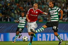 Sporting Lisbon gebuk Olympiakos 3-1