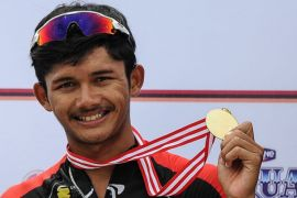 Jamal pebalap Indonesia pertama juarai etape Tour Singkarak 2017