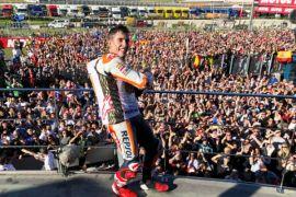 Penyebab Marquez nyaris kecelakan di GP Valencia