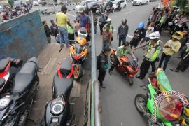 "Jelang Tahun Baru, Polrestabes Surabaya amankan motor knalpot ""brong"""