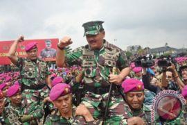 Panglima TNI Kunjungi Korps Marinir