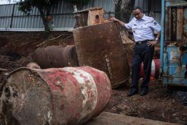 Anies Baswedan tinjau penyebab banjir di jalan MT Haryono