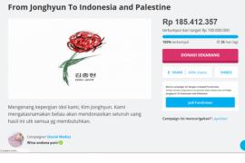 Penggemar SHINee di Indonesia galang dana untuk Palestina