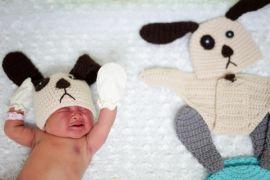 Rumah sakit Thailand dandani bayi baru lahir dengan kostum anjing