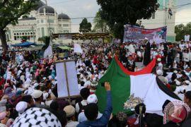 Ribuan orang demonstrasi selamatkan Palestina
