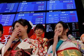 Pelemahan yen dorong saham Tokyo sedikit menguat