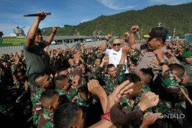 Pesan Ganip Warsito Kepada 350 prajurit TNI Menjaga Perbatasan RI-Timor Leste