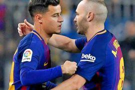 Barcelona bekuk Alaves 2-1 pada debut Coutinho di La Liga