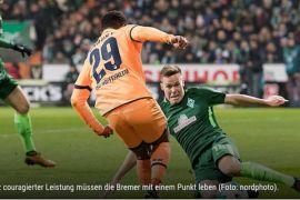 Hoffenheim ditahan imbang oleh Werder Bremen, 1-1