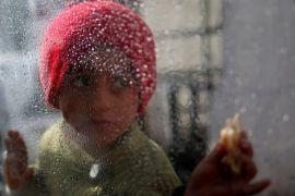 Puluhan anak Palestina demonstrasi di Gaza