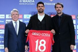 Costa minta Griezmann tetap bersamanya di Atletico Madrid