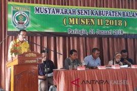 Husin Kembali Terpilih Sebagai Ketua Dewan Kesenian Balangan