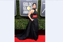Deretan selebriti berbaju hitam di gelaran karpet merah Golden Globe 2018