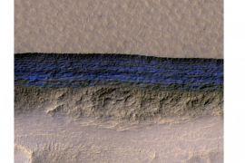 Endapan es Mars bisa topang penempatan manusia di masa depan