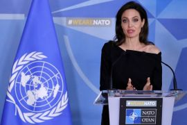 Angelina Jolie berkunjung ke Irak