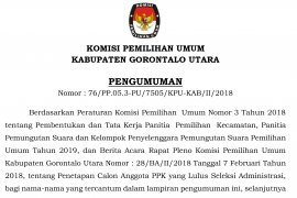 Pengumuman Hasil Seleksi PPK Pemilu 2019