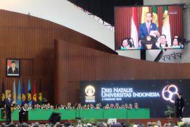 Jokowi ucapkan terima kasih lulusan UI banyak jadi menteri
