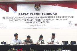 KPU Kota Depok loloskan 15 parpol