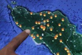 BMKG: 57 titik panas bertahan di Aceh