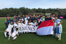 Timnas U-16 Indonesia juara turnamen Jenesys di Jepang