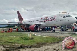 Pesawat Batik Air yang tergelincir sudah dievakuasi