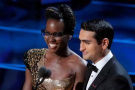 Lupita Nyong'o dan Kumail Nanjiani bicara untuk imigran di Oscar