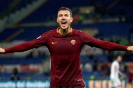 Edin Dzeko antar Roma ke perempatfinal Liga Champions