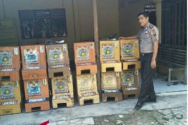 Polisi amankan belasan mesin judi jackpot