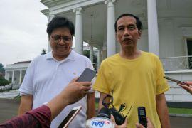 Presiden Jokowi bahas soal cawapres dengan Airlangga