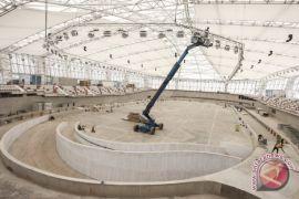 Pebalap timnas uji velodrome Asian Games 2018