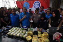 BNN sita puluhan kilogram sabu asal Malaysia