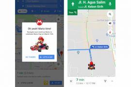 Mario Bros jadi navigator Google Maps hari ini