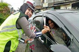 Angka kecelakaan lalu lintas di Bekasi turun 12,87 persen
