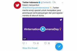 Twitter rayakan Hari Perempuan Sedunia dengan emoji