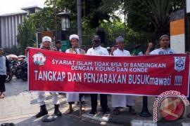 Demonstrasi tuntut Sukmawati Soekarnoputri terjadi di Tanjungbalai